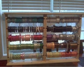 Double size Ribbon rack holds 250 4-5 inch spools. hinged & collapsible . store display