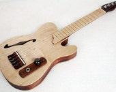 Vintage Telecaster Guitar Style Acoustic Electric Concert Ukulele