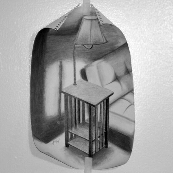 Back to School - Teachers Gift - Original Artwork Still Life in Charcoal