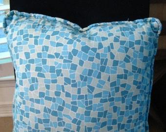 Indoor/Outdoor Throw Pillow - handmade throw pillow in fun pattern