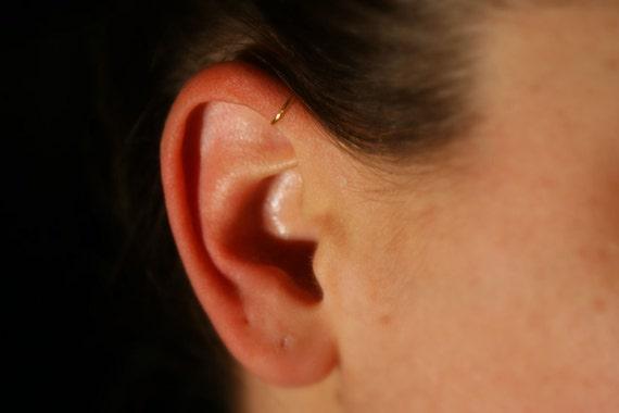 Fake Earring, Helix | Cartilage | Forward Pinna Ear Cuff (gold) - NO PIERCING REQUIRED, 20 gauge, hoop earrings, faux piercing, jewellery