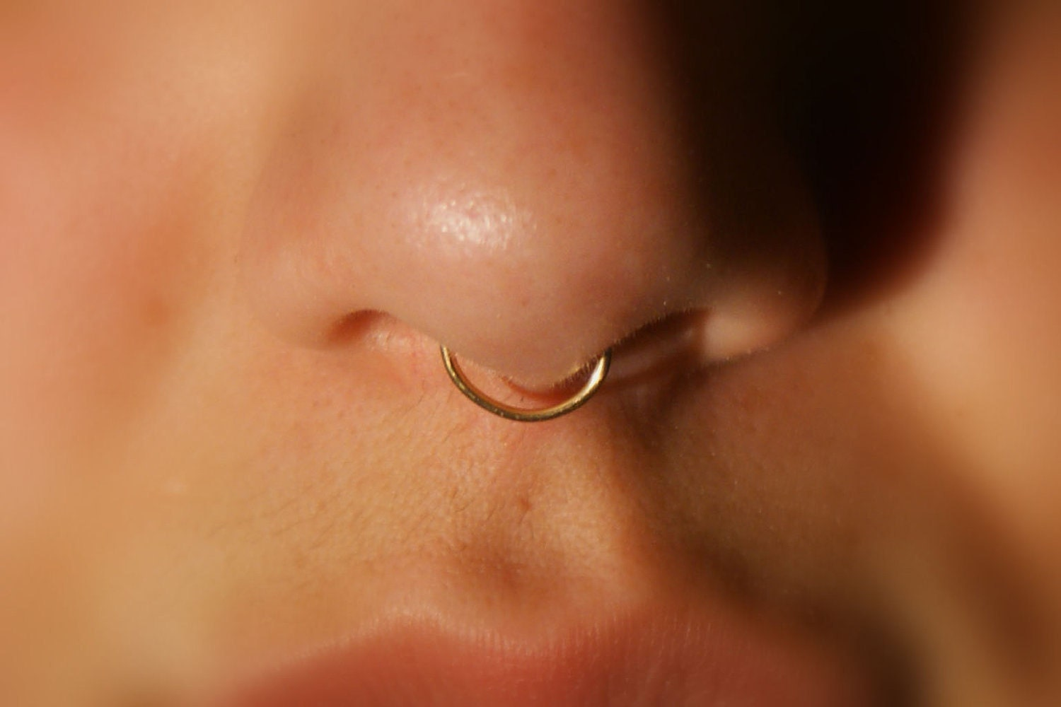 Septum Nose Ring Cuff © gold No Piercing Required by ...