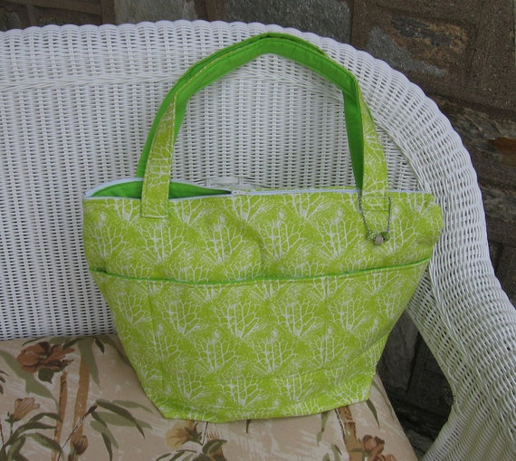INVENTORY CLOSEOUT SALE - Gender Neutral Handmade Diaper Bag / Large Tote