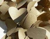 50 Kraft Paper Hearts