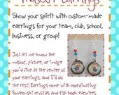 Custom Mascot Earrings