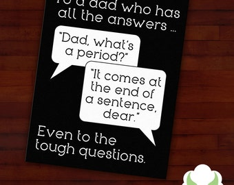 Greeting card: Dad, what's a period — Father's Day