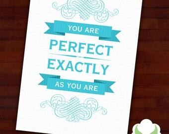 Blank greeting card - Perfect as you are - love, encouragement