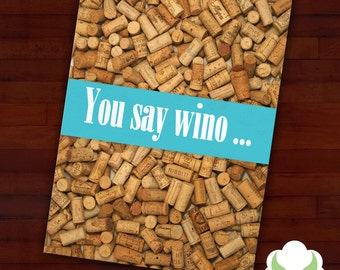 Greeting card - Cork you - for wine lovers