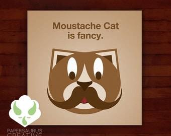 Print: lolcat inspired — moustache cat