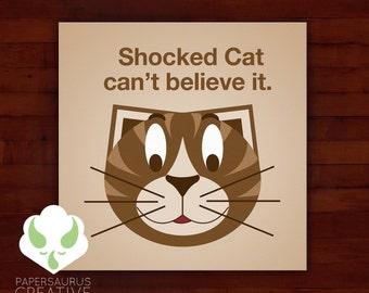 Print: lolcat inspired — shocked cat