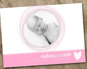 Baby girl birth announcement (digital file)