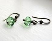 Antique Brass Peridot Earrings