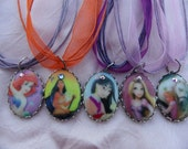 YOUR CHOICE of 1 Princess (Group 2) Porcelain Cameo Necklace