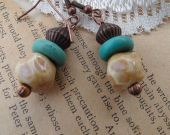 Sand and Sea Earrings.