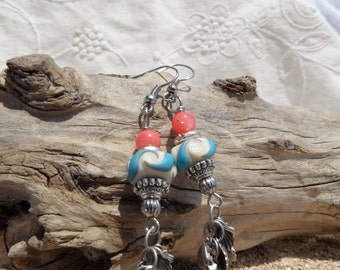 Coral Waves Earrings