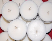 100 Pack Unscented Soy Tea Lights, Hand Made