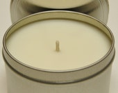 Soy Candle Tins 8oz - Natural Color - You Pick the Fragrance