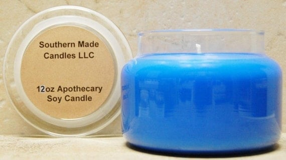 2 Pack - 12 oz Apothecary Jar Pure Soy Wax Candle