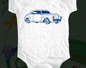 Classic car 2 One-Piece shirt - graphic printed on Infant Baby One-Piece, Infant Tee, Toddler T-Shirts