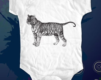tiger 3 - graphic printed on Infant Baby One-piece, Infant Tee, Toddler T-Shirts - Many sizes
