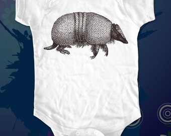 armadillo 3 - graphic printed on Infant Baby One-piece, Infant Tee, Toddler T-Shirts - Many sizes