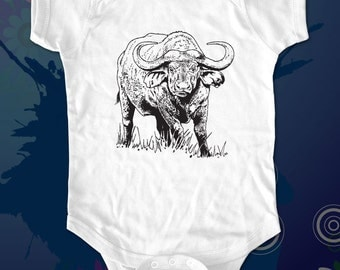 bull - graphic printed on Infant Baby One-piece, Infant Tee, Toddler, Youth T-Shirts - Many sizes