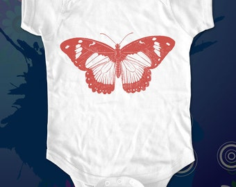 Butterfly 9 - graphic printed on Infant Baby One-piece, Infant Tee, Toddler, Youth T-Shirts - Many sizes