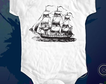Ship 1 One-piece Shirt  - graphic printed on Infant Baby One-piece, Infant Tee, Toddler T-Shirts - Many sizes