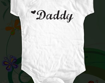 Heart Daddy baby One-piece shirt - funny saying printed on Infant Baby One-piece, Infant Tee, Toddler Shirt - Many sizes