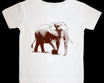 elephant 1 - graphic printed on Infant Baby One-piece, Infant Tee, Toddler T-Shirts - Many sizes