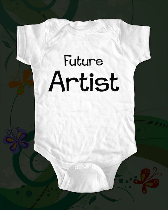 Future Artist - saying printed on Infant Baby One-piece, Infant Tee, Toddler T-Shirts - Many sizes