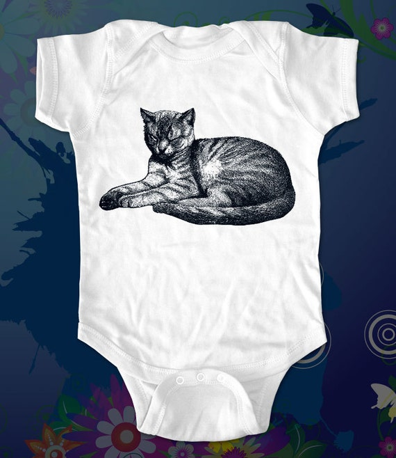 Cat 6 Tee Shirt - graphic printed on Infant Baby One-piece, Infant Tee, Toddler T-Shirts - Many sizes
