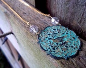 Patinaed Partridge in a Pear Tree Necklace
