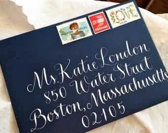 CALLIGRAPHY ENVELOPE ADDRESSING in Vigny Style - Wedding Envelopes