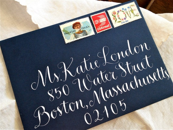 CALLIGRAPHY ENVELOPE ADDRESSING in Vigny Style - Wedding Envelopes