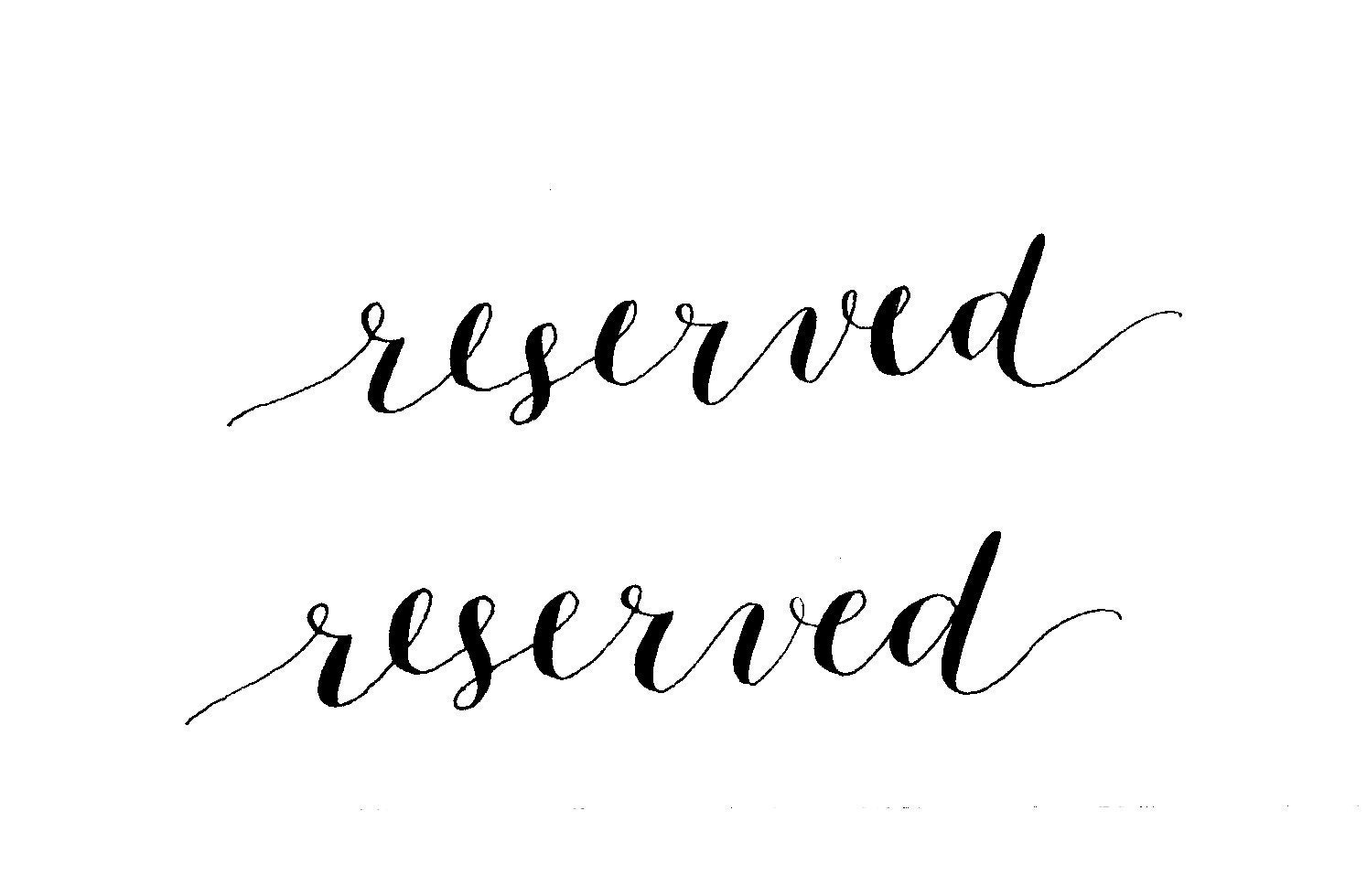 Reserved For Courtney Digital Calligraphy For Website