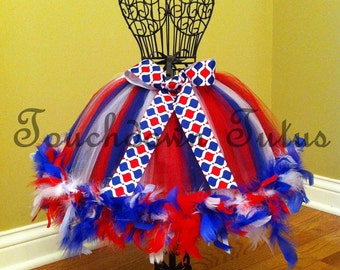 4th of July feather tutu