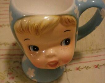 Miss Cutie Pie Egg Cup Napco 50's