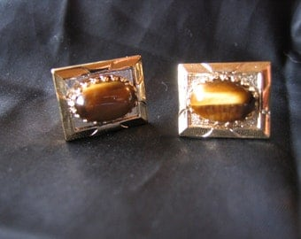 Lovely  VintageTiger Eye Cuff Links