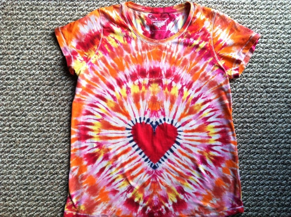 Mother's Day Maternity Tie Dye Heart T shirt