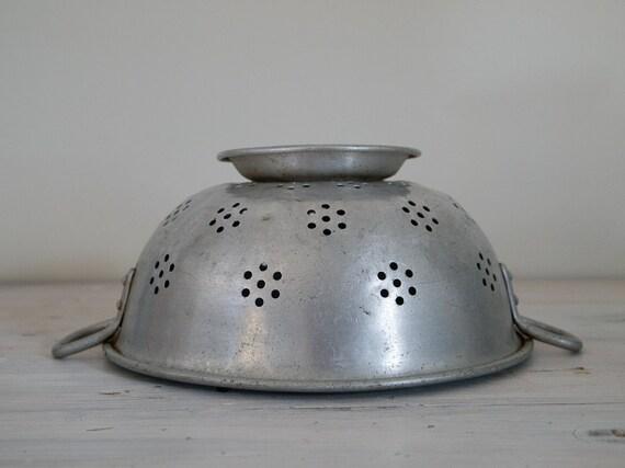 reserved - vintage metal colander