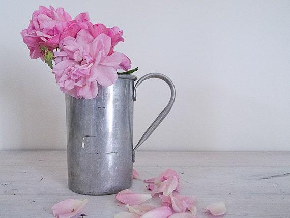 vintage tin measuring jug