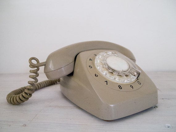reserved for T&W - vintage rotary dial grey telephone PMG 801