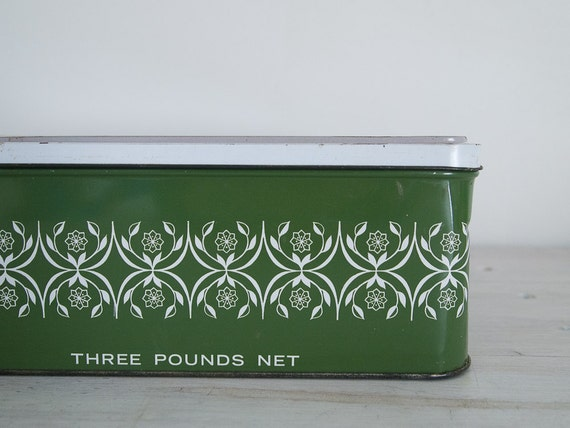 reserved - vintage arnott's biscuit tin with stamps