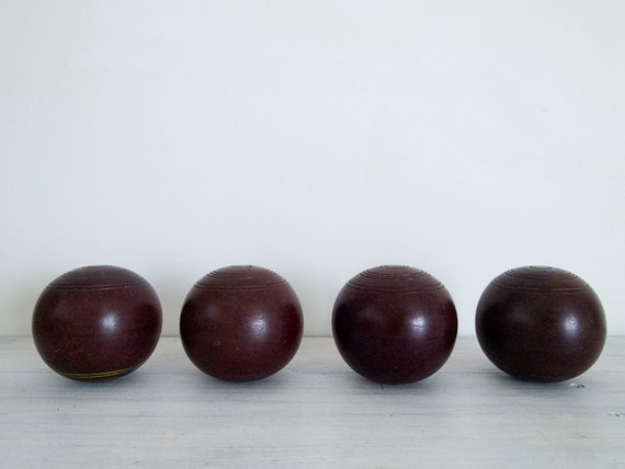 vintage bowling ball set