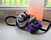 Purple Duo Rosette Headband