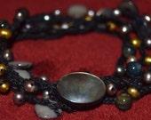 The Black Sea Crocheted 2x Wrap Necklace or 5x Wrap Bracelet