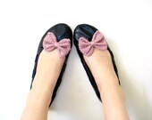 Hand Knit Bow Shoe Clips Wedding Bridesmaids Casual