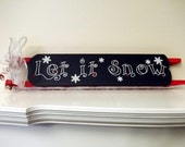 Let it Snow sled with snowflakes and jingle bells Holiday Christmas Decor Home Decor