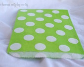 DoTTie  FaVoR BaGs- GReeN--party favors--gifts--parties--picnics---weddings--showers--24ct